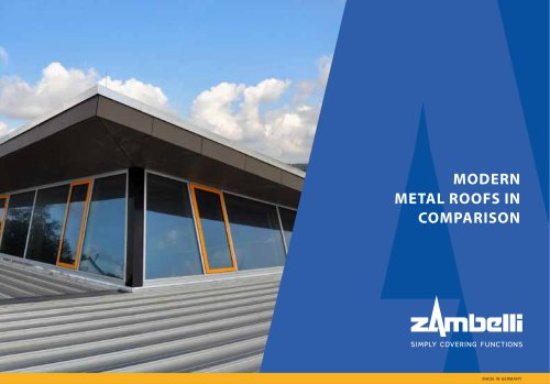 Modern metal roofs in comparison
