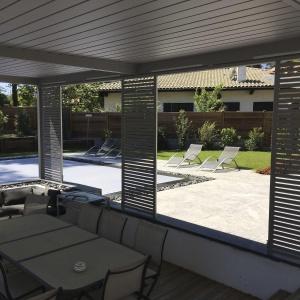 panel de protección solar de aluminio / de acero inoxidable / para fachada / para refugio