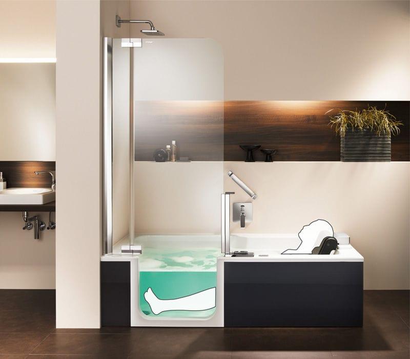 Bañera-ducha rectangular - ARTLIFT - artweger - empotrable ...