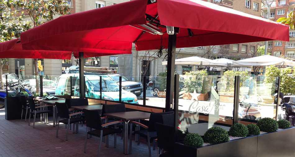Sombrilla Lateral Para Bar Para Restaurante De Pvc