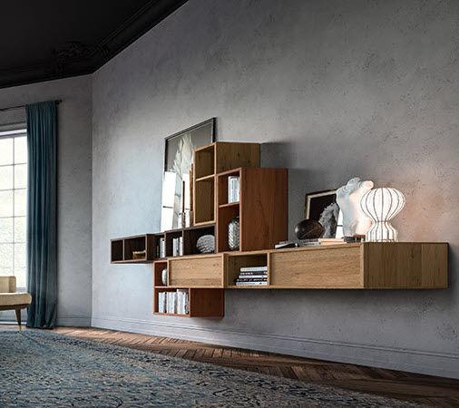 Mueble De Salon Moderno De Roble Paris 2020 Callesella