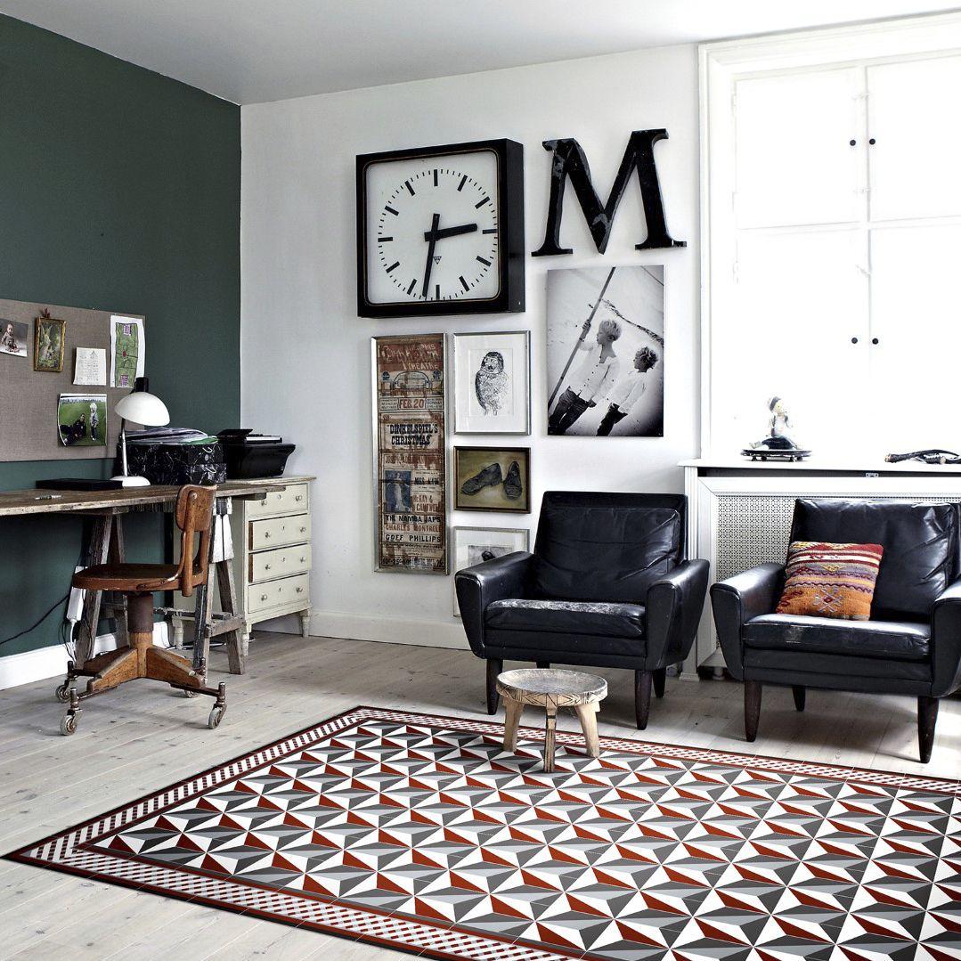 Alfombra Moderna Con Motivos De Vinilo Rectangular Bauhaus  # Muebles Bauhaus Caracteristicas