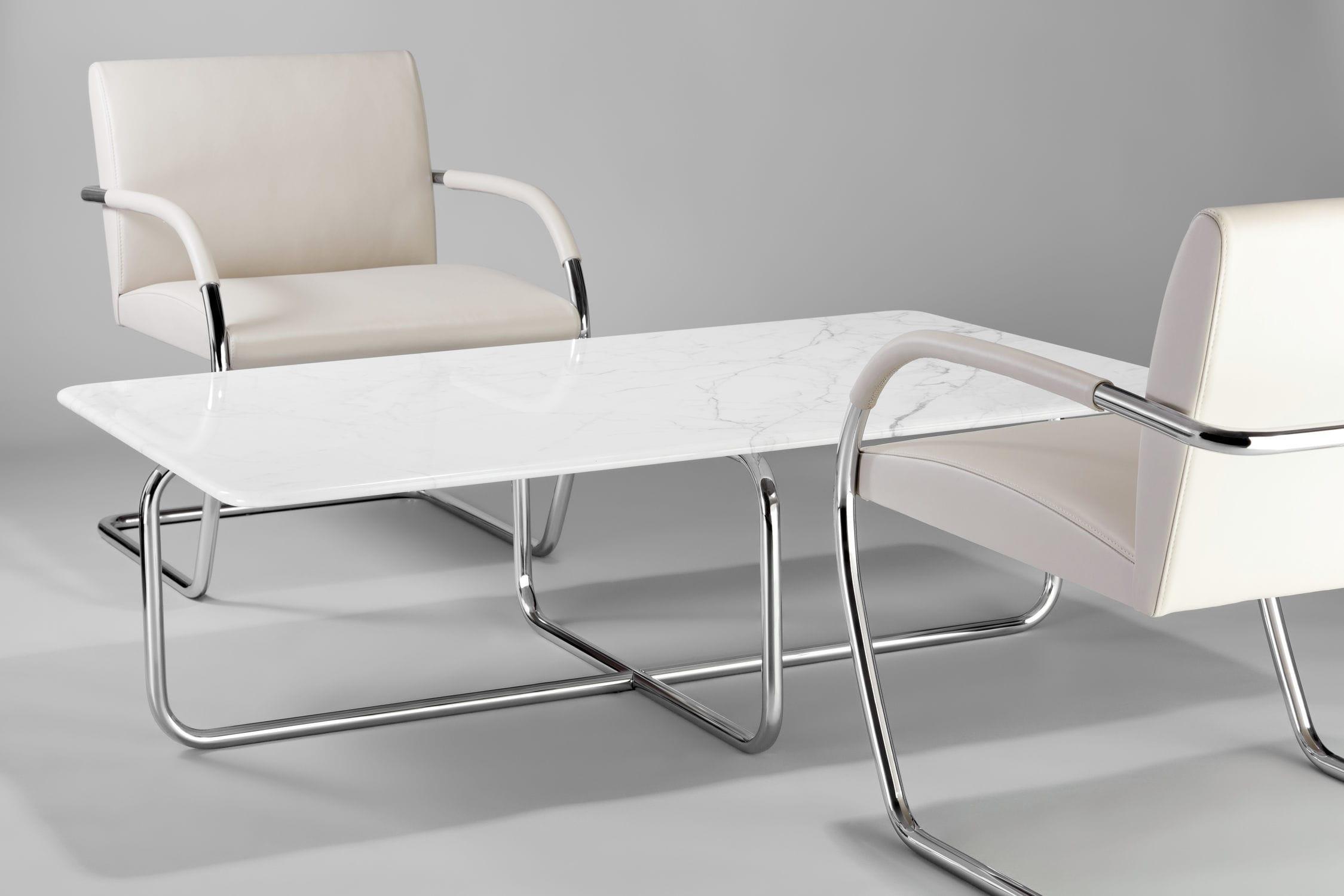 Mesa De Centro De Dise O Bauhaus De M Rmol De Acero De  # Muebles Bauhaus Caracteristicas
