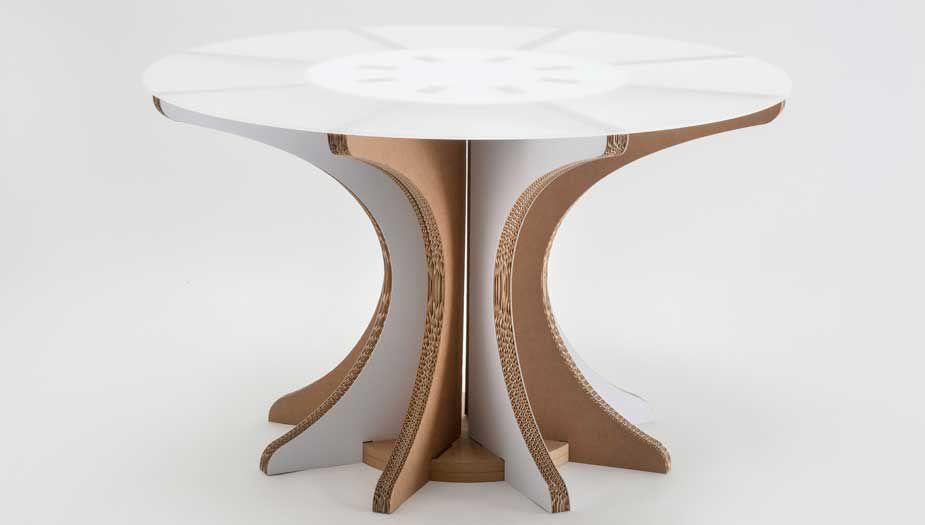 Mesa de comedor de diseño original / de cartón / redonda ...