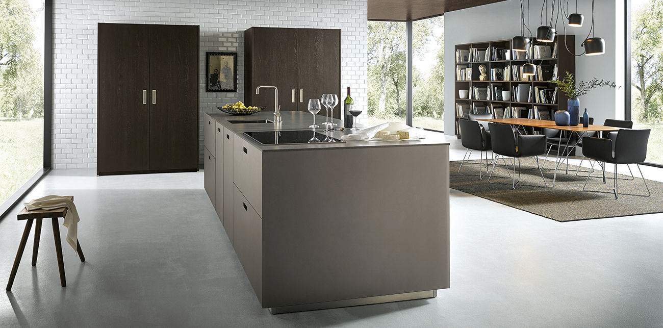 Cocina contemporánea - NX 19 - Next19 - de vidrio / con isla