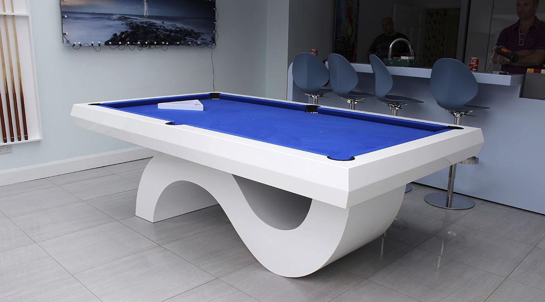 mesa de billar moderna convertible en mesa de comedor