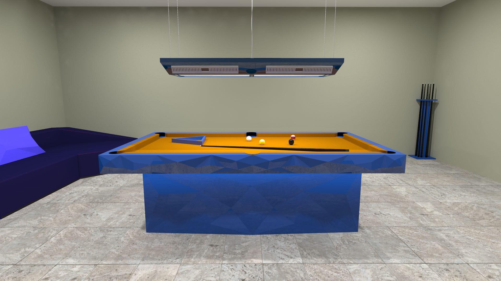 mesa de billar de diseño original convertible en mesa de comedor para el sector servicios