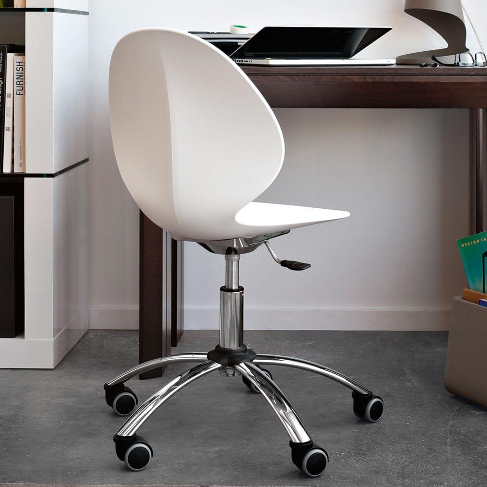BASIL by Mr Smith Studio - Silla de oficina moderna / con ruedas /  giratoria / ajustable by calligaris | ArchiExpo