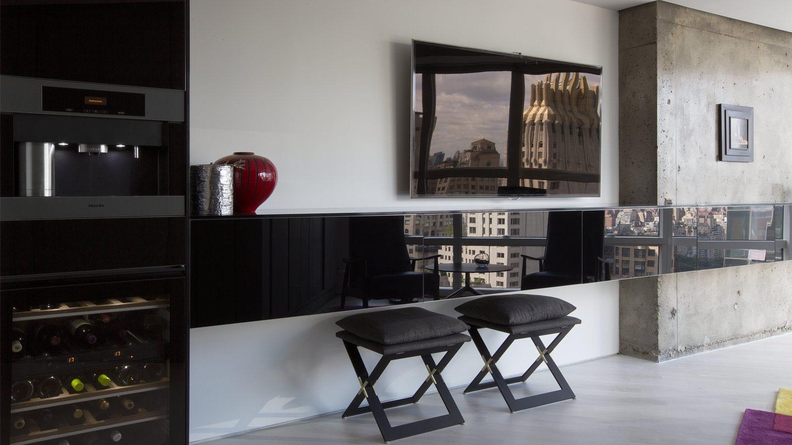Mueble Tv Moderno De Madera Lacada Metropolitan Tower By  # Muebles Postmodernos
