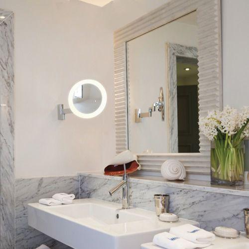 Espejo Bano Aumento Con Luz.Espejo Para Bano De Pared De Aumento Con Luz Led