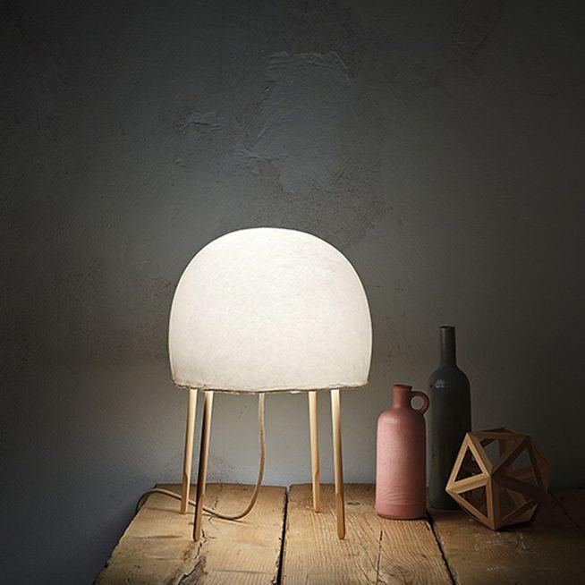 FOSCARINI contemporánea papel KURAGE mesa de de Lámpara de fresno japonés vwOymNn08