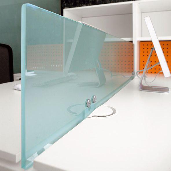 Separador para oficina de sobremesa / de vidrio / modular ...
