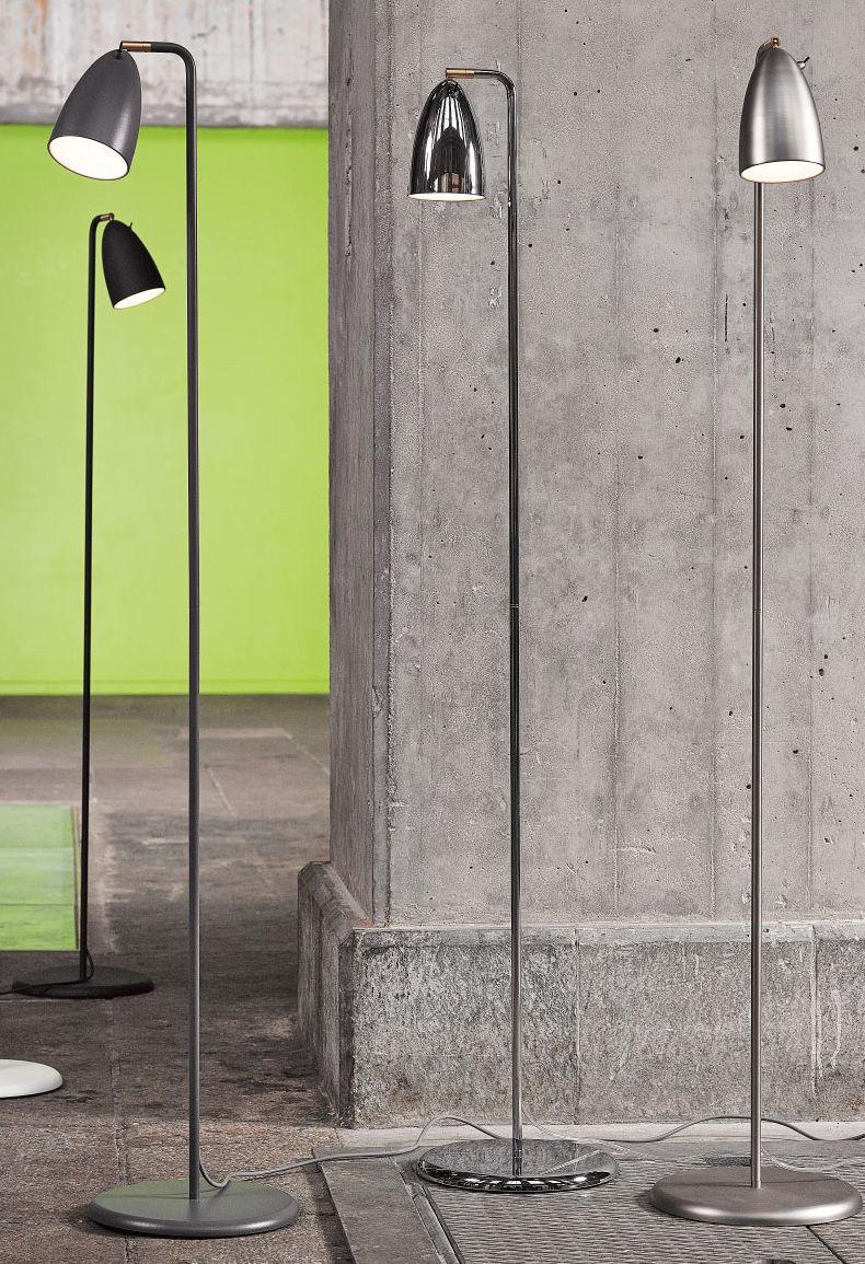 Lámpara de de pie moderna de metal incandescencia wOn0vN8m