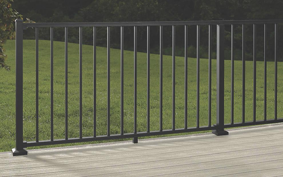 Barandilla De Aluminio Con Barrotes De Exterior Para