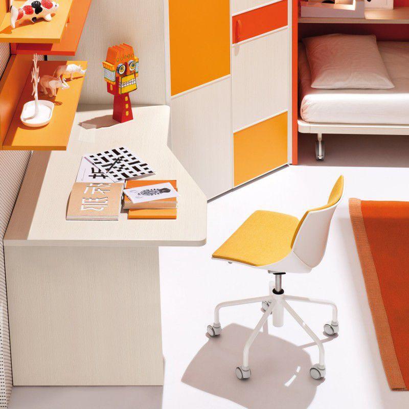 Silla de oficina contemporánea / para niños / con patas en ...