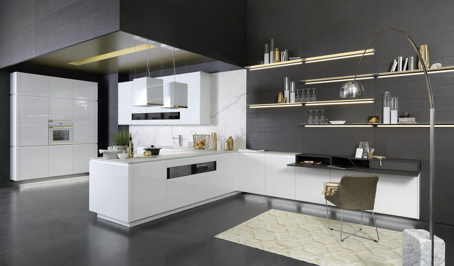 Cocina contemporánea - SOLO - rational einbaukuechen - de chapa de