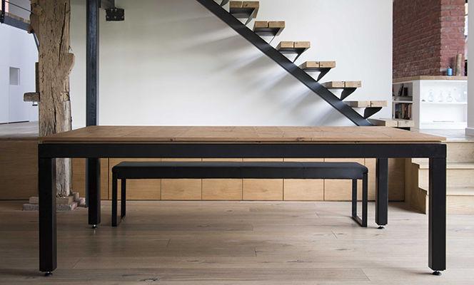 mesa de billar moderna convertible en mesa de comedor para el sector servicios de metal
