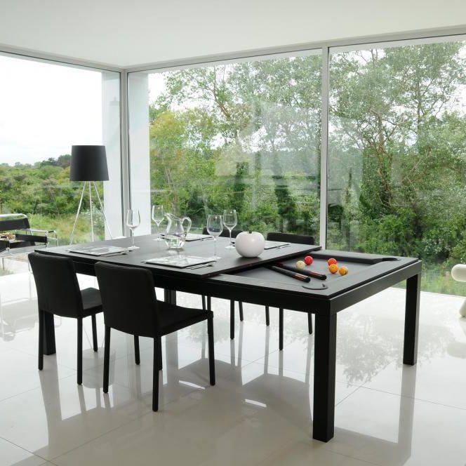 BLACK POWDER COATED - Mesa de comedor de diseño original / de madera / de  acero / de acero con revestimiento en polvo by Fusiontables | ArchiExpo