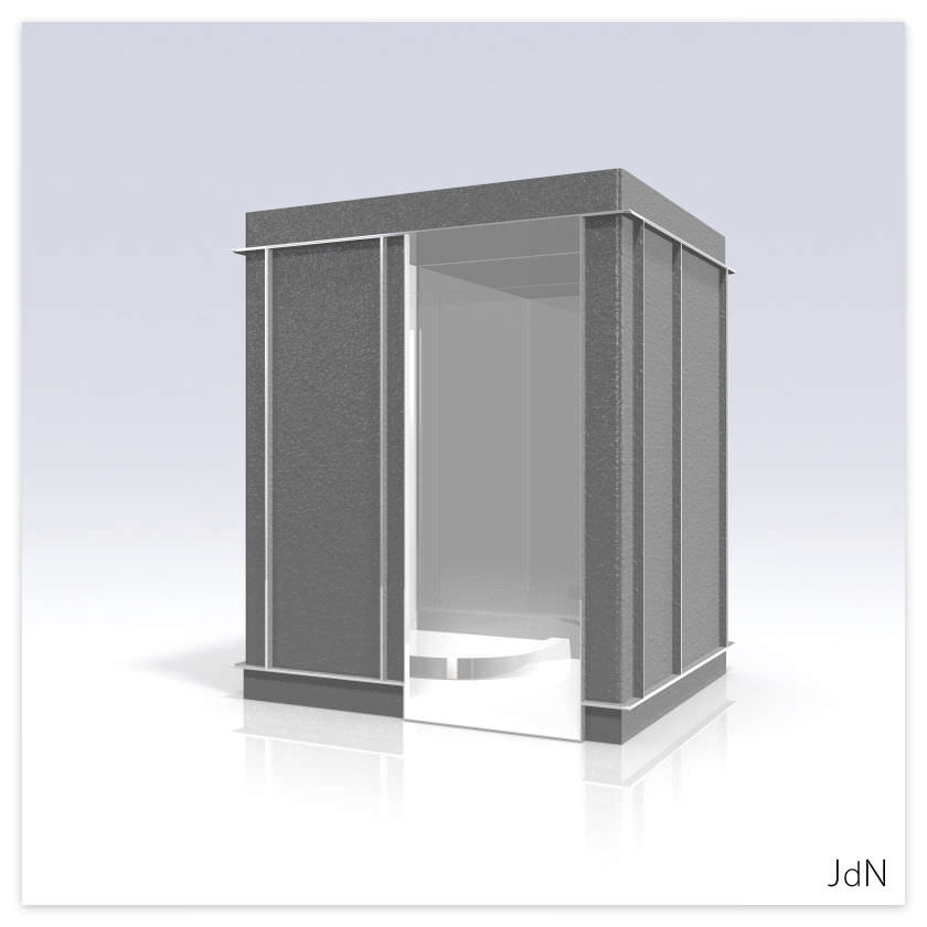 Baño contemporáneo / de poliéster / para el sector servicios ...
