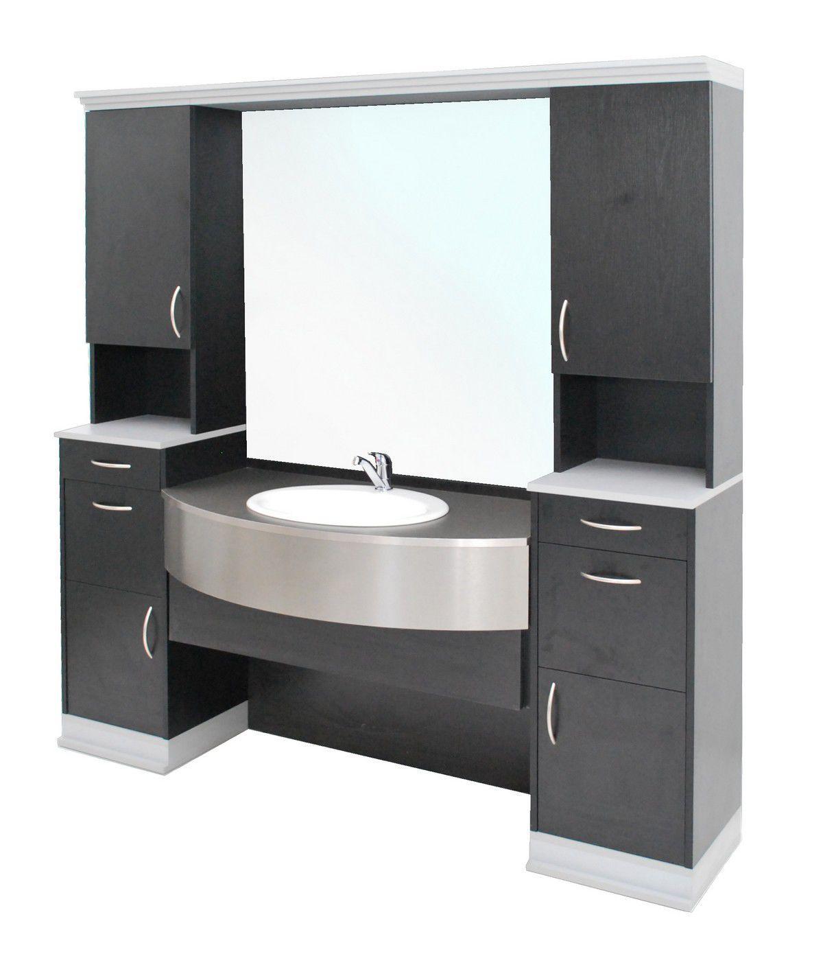 Mueble De Lavabo De Pie De Madera Moderno Con Espejo  # Muebles Tocadores Modernos
