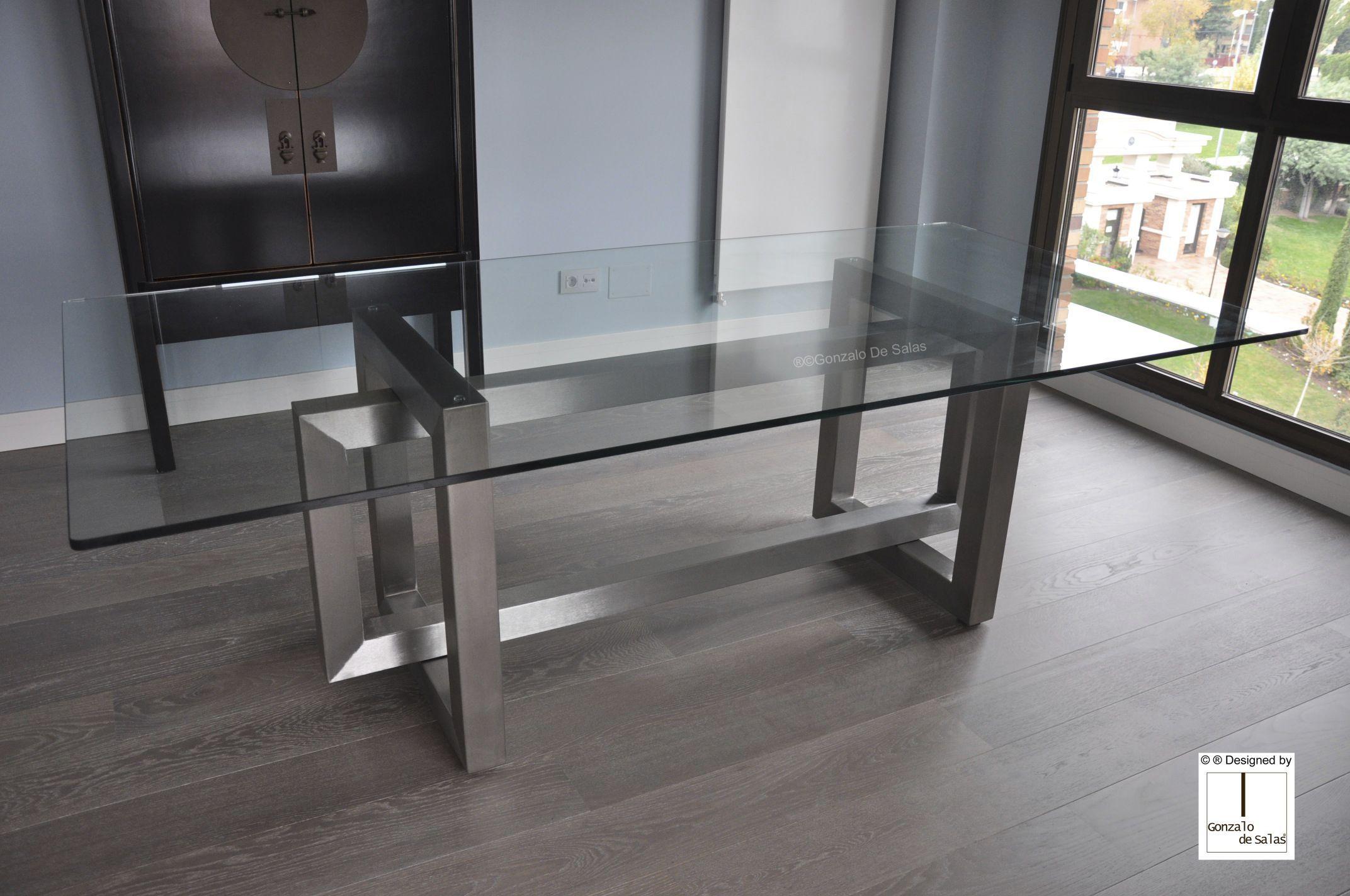 Mesa de comedor moderna / de metal / de hierro / de metal ...