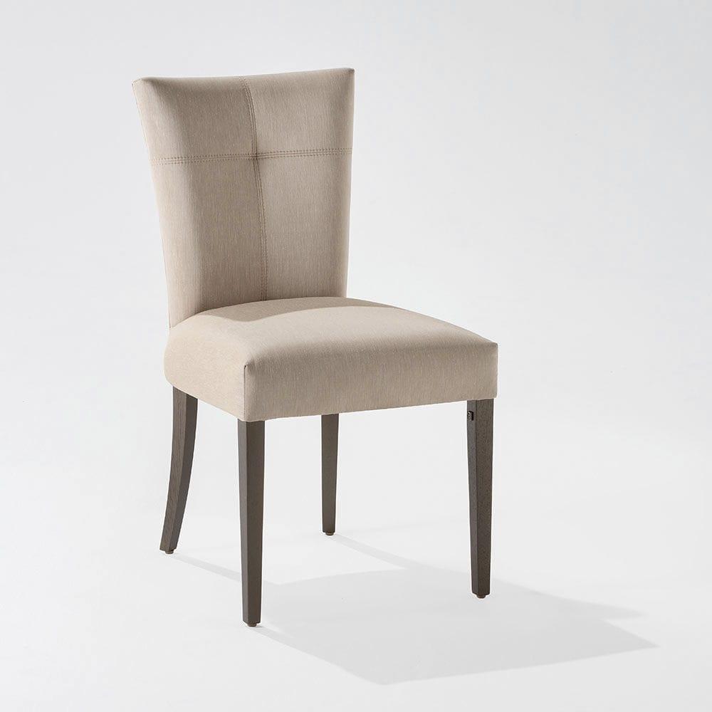 Silla moderna / tapizada / de madera / de cuero GRAFITO 100 Adriana Hoyos