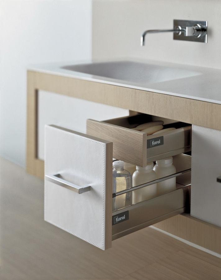 Mueble de lavabo suspendido - XIL #1 - karol - de madera ...