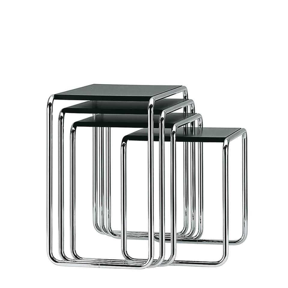 Mesa Nido De Dise O Bauhaus De Madera De Vidrio De Metal B  # Muebles Bauhaus Caracteristicas