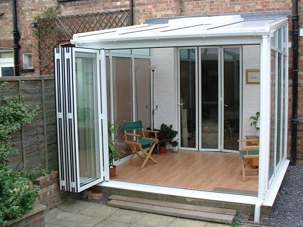 Cerramiento De Terraza De Vidrio De Aluminio Totalmente