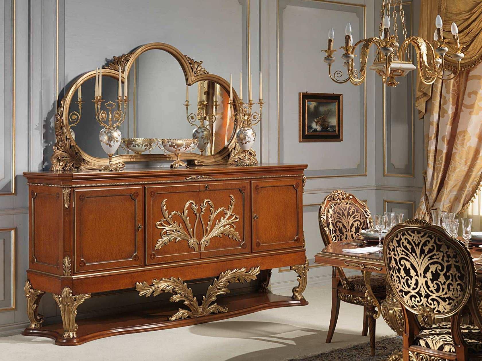 Aparador De Estilo Luis Xvi De Madera Versailles Vimercati  # Muebles Luis Xv Caracteristicas