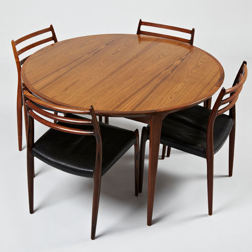 mesa de comedor de diseño escandinavo / de madera / redonda / ovalada