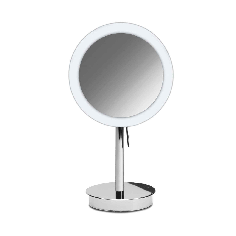 Espejo Bano Aumento Con Luz.Espejo Para Bano De Sobremesa De Aumento Con Luz Led