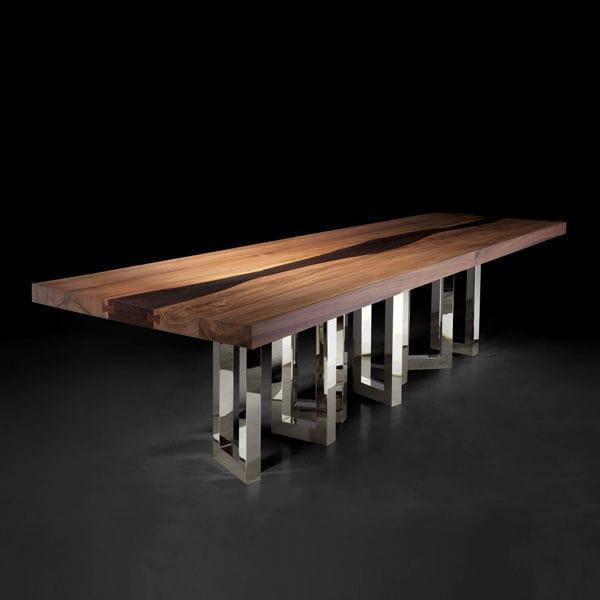 IL PEZZO 6 - Mesa de comedor de diseño original / de madera maciza / de  fresno / de nogal americano by Il Pezzo Mancante | ArchiExpo
