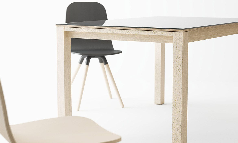 Mesa de comedor moderna / de madera / cuadrada / extensible ...
