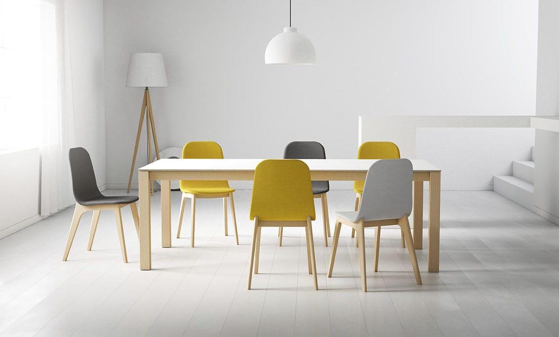 Mesa de comedor moderna / de madera / cuadrada / extensible QUADRA Cancio