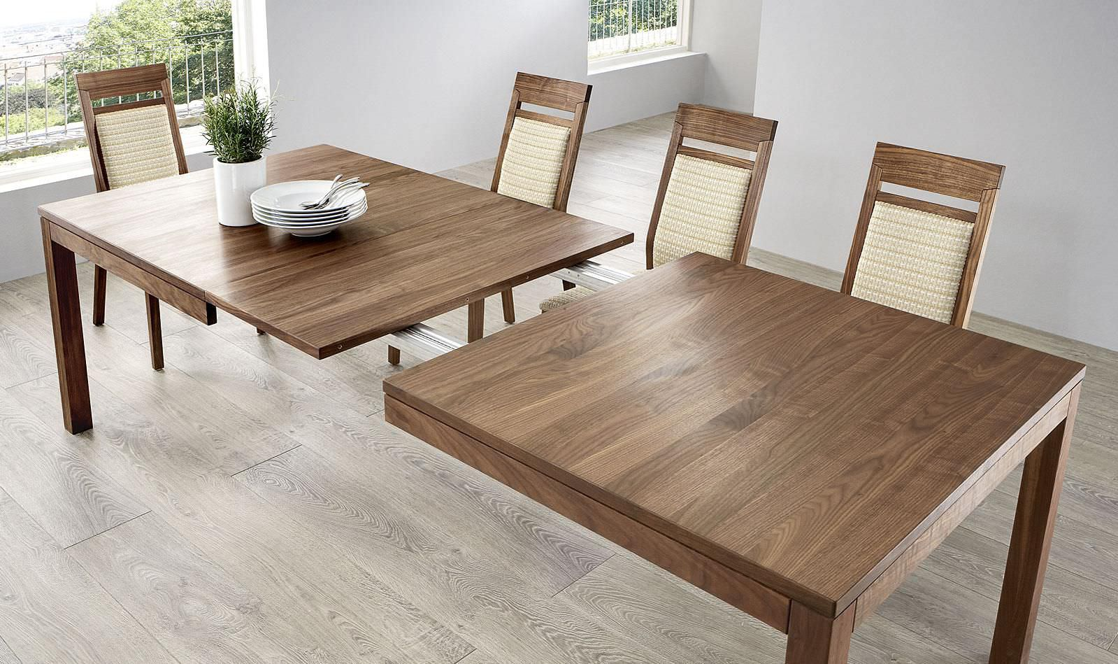 Mesa de comedor moderna / de madera / rectangular ...