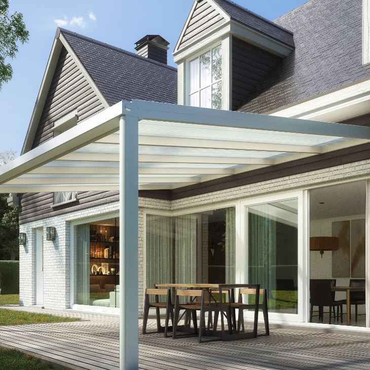 Marquesina Para Terraza De Aluminio De Vidrio De