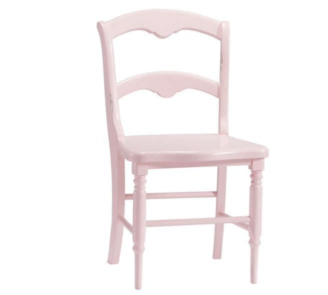 silla de niña de madera
