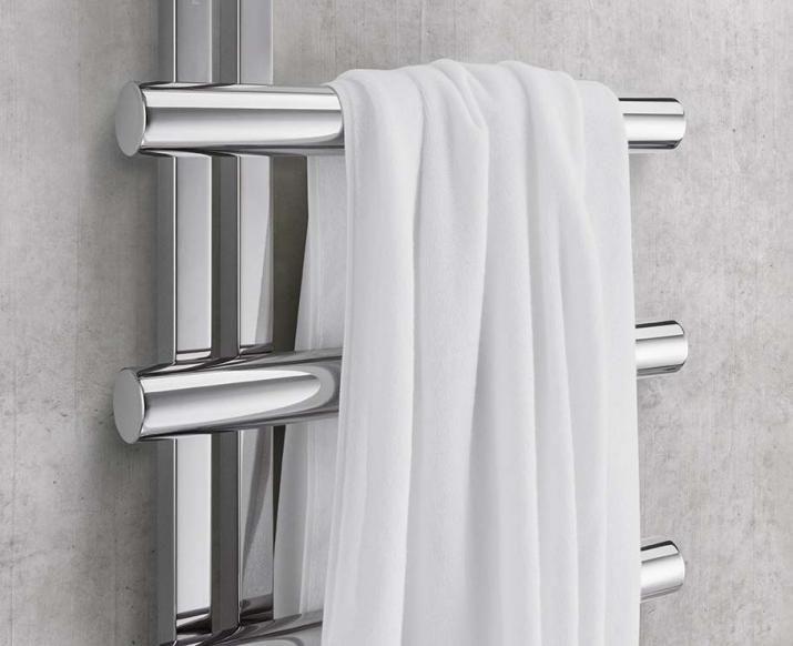 Radiador toallero de agua caliente / eléctrico / de acero ...