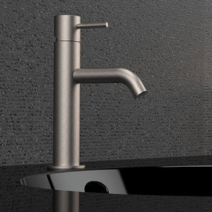 grifo monomando para lavabo / para lavamanos / de acero inoxidable / de baño