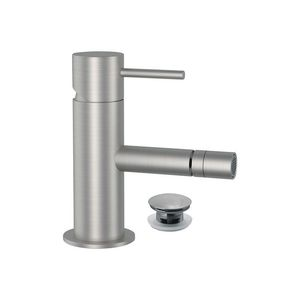 grifo monomando para bidé / en encimera / de acero inoxidable / de baño