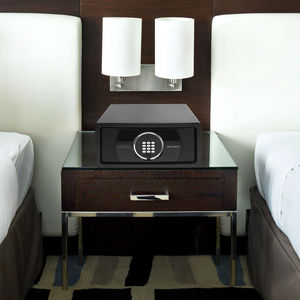 caja fuerte electrónica / de libre instalación / para habitación de hotel