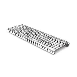 escalón de acero galvanizado / de aluminio / de acero inoxidable / antideslizante