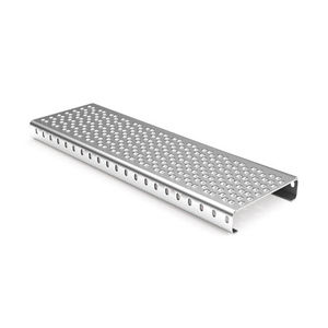 escalón de acero galvanizado / de aluminio / de acero inoxidable / para suelo técnico