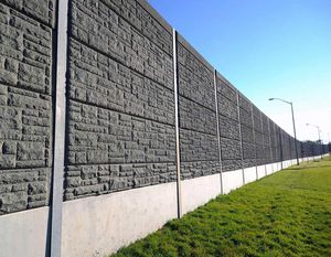 muro antirruido prefabricado / de hormigón celular / para carretera