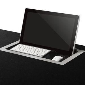 pantalla táctil para mesa de conferencias / en encimera / retráctil / motorizada