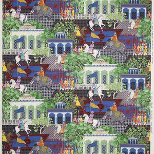 tela de tapicería / con motivos de escenas / de algodón