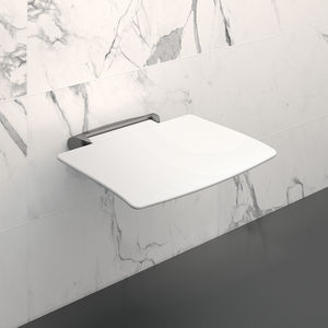 asiento de ducha amovible / de pared / de polímero / de aluminio