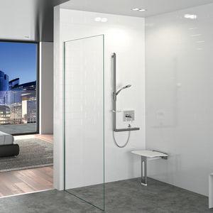 asiento de ducha amovible / de pared / de polímero / para el sector servicios