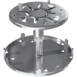 pedestal para suelo técnico de acero galvanizado